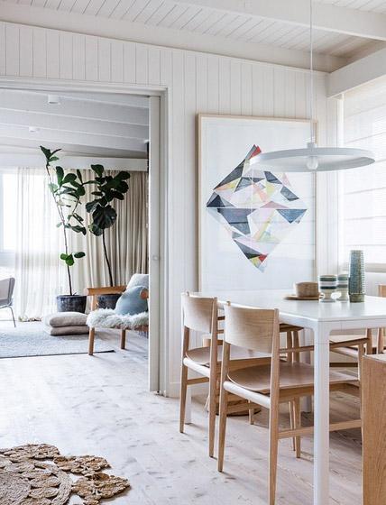 北欧风格餐厅几何装饰画图片
