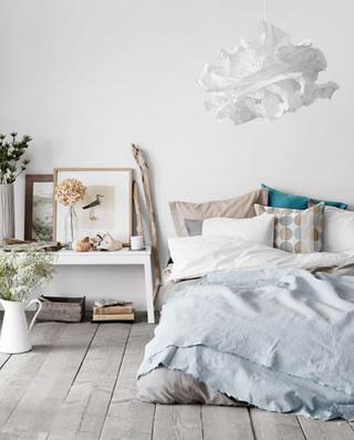 北欧风格卧室抱枕效果图