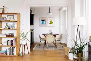 58平米单身公寓餐厅装潢设计