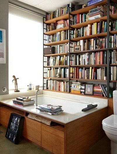 复古小书房设计实景图