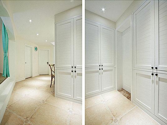 110㎡美式两居室走廊设计图
