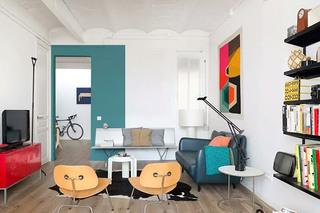 70平小公寓客厅沙发图片