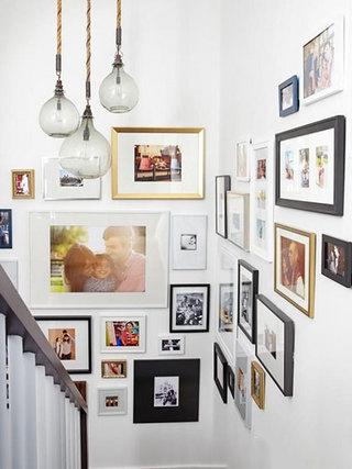 客厅照片墙布置摆放图