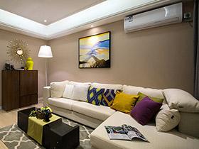 78平简约风格两室两厅装修 清新淡雅