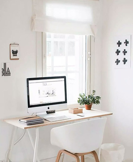 小户型清新简约小户型书桌图