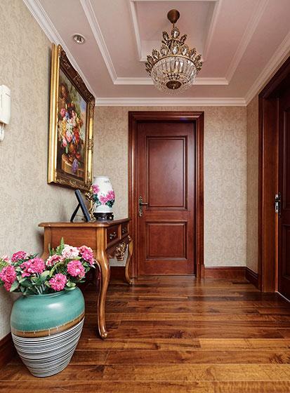 150㎡美式两居室玄关布置图