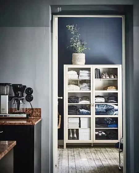 北欧风格单身公寓过道装修图