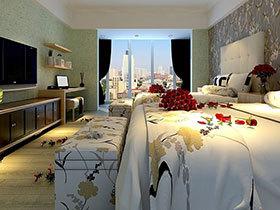 时尚简约宾馆客房装修效果图