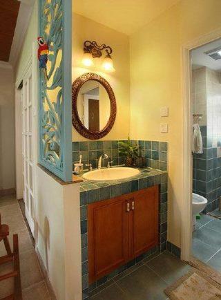 卫生间干湿分离装修装饰效果图