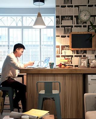 35平北欧风格公寓吧台设计图