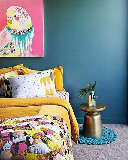 浪漫卧室床品效果图装修