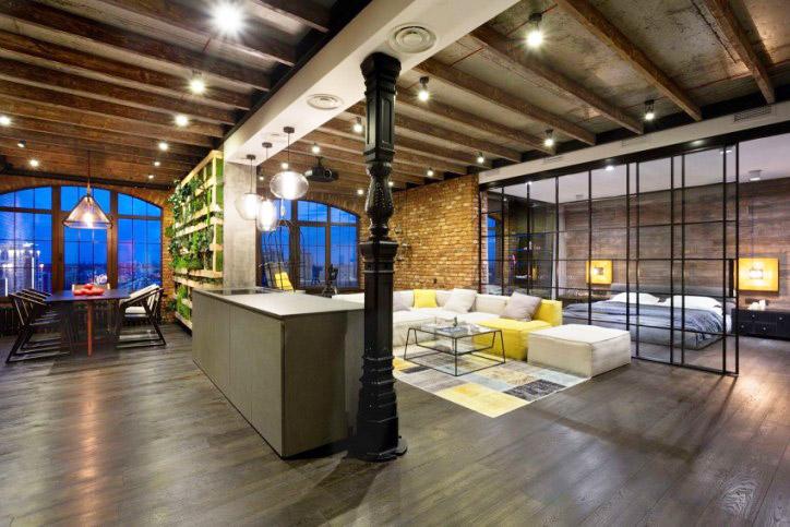 工业风格公寓隔断装修设计