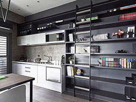 黑白灰照样炫酷  你会爱上这个30平的单身公寓