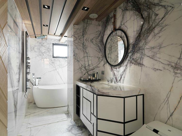 摩登后现代洗手间效果图