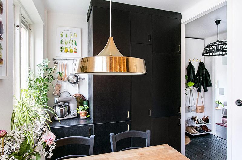 混搭风格单身公寓餐厅吊灯图片
