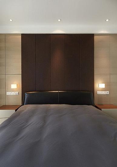 成熟现代卧室背景墙效果图