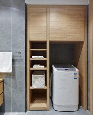 日式环保原木洗衣房设计