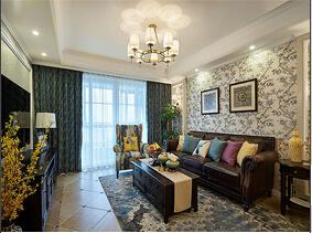 美式风格两室两厅装修图  品味岁月的味道