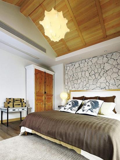 美式风格复式公寓装修阁楼卧室设计