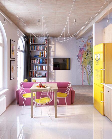 35平公寓餐桌效果图