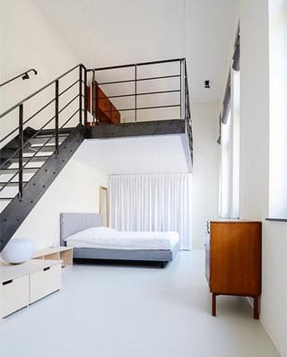 150平LOFT公寓开放式卧室效果图