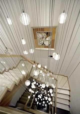 田园风格复式楼装修吊灯效果图