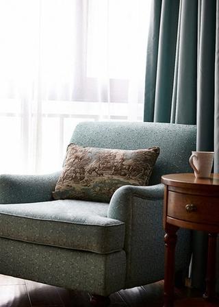 美式风格三房二厅装修单人沙发图片