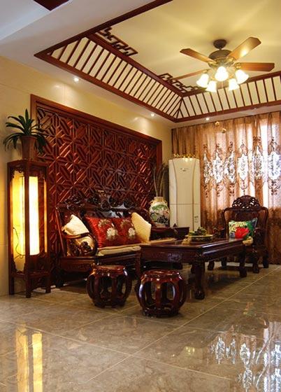 精美古典中式客厅吊顶装饰图