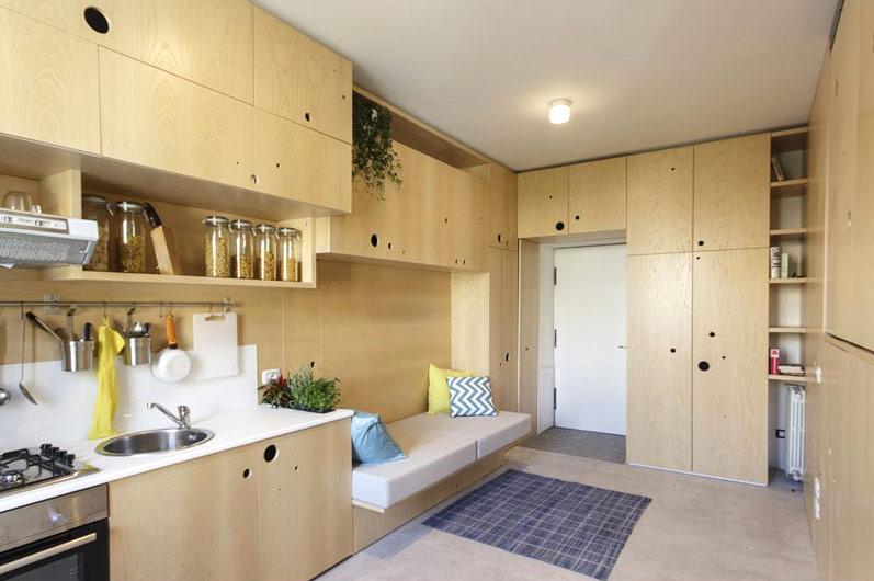 宜家风开放式储物公寓效果图