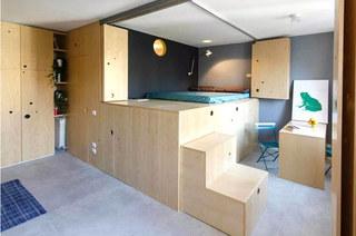 30米公寓木质楼梯设计