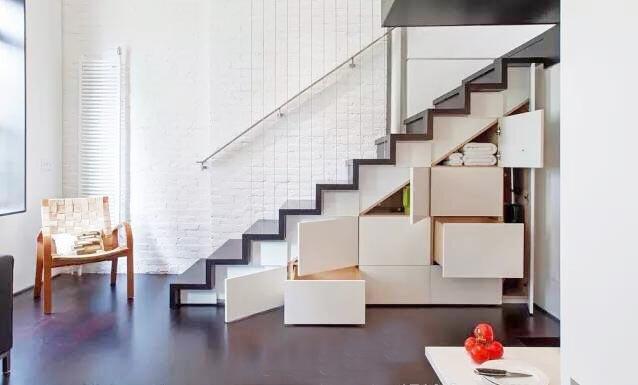 楼梯空间收纳布置欣赏图