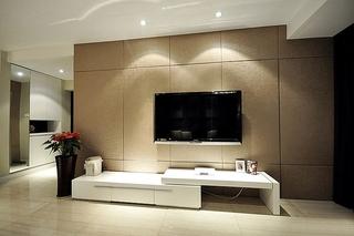 咖色系现代简约风 电视背景墙设计
