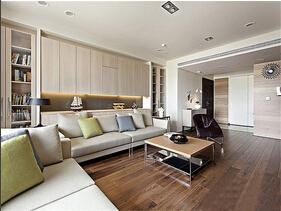 大空间更敞亮  简约风格三居室装修效果图