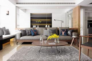 舒适新中式客厅沙发效果图