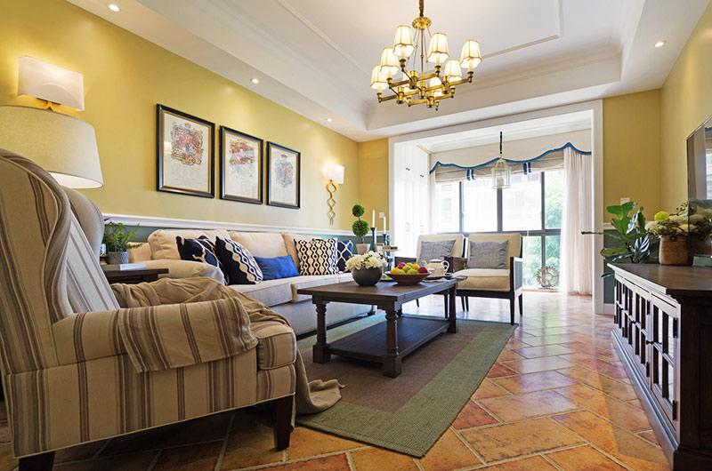 100平美式风格三室两厅装修