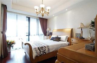 欧式风格三室两厅装修卧室效果图装修