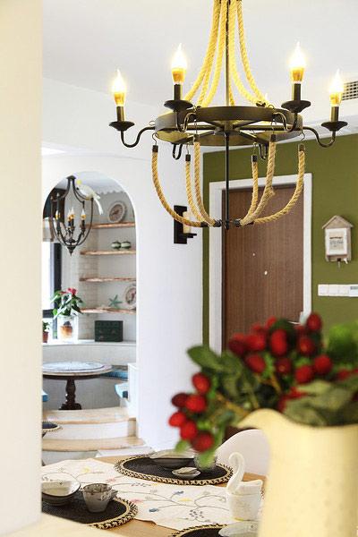 田园风格装修 让家让世外桃源一样美妙餐厅吊灯