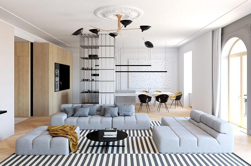 现代简约风格三室两厅装修