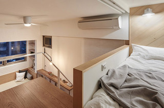 22平米超小公寓卧室地板装修