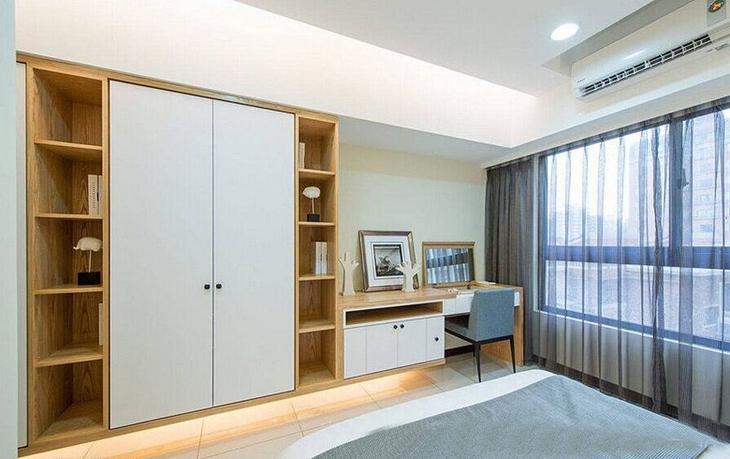 简约风格三室两厅卧室衣柜设计装修