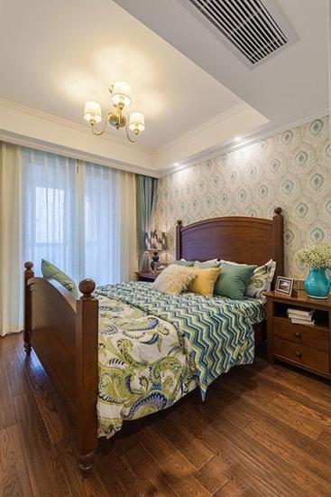 温馨乡村美式家居卧室效果图