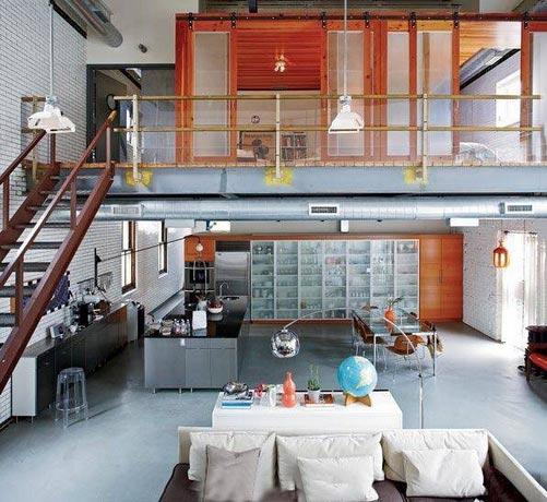 loft公寓布置实景图