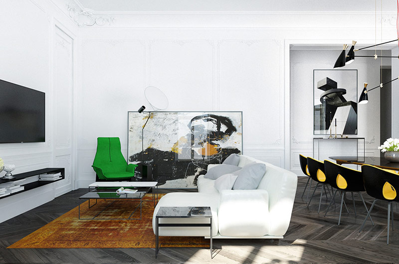 110平单身公寓挑高装修图