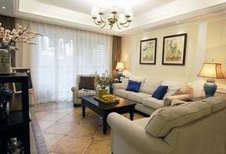 美式风格四房两厅装修客厅效果图