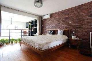 108平loft公寓主卧室效果图