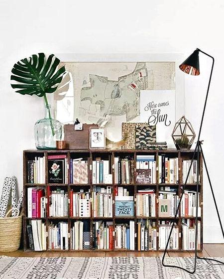 客厅木质书架效果图装修
