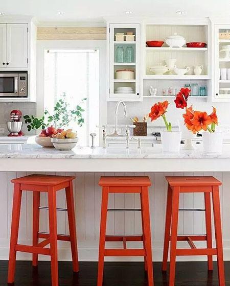 简约厨房吧台装修装饰图