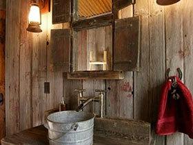 夏日清凉宝地  10个复古浴室装修效果图