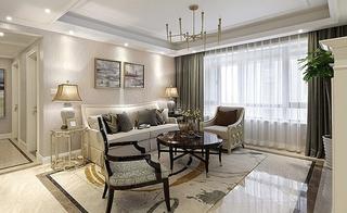 15万装美式混搭风格两居室客厅效果图