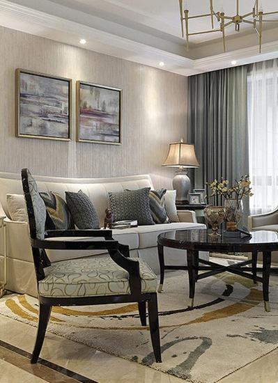 15万装美式混搭风格两居室美式客厅设计